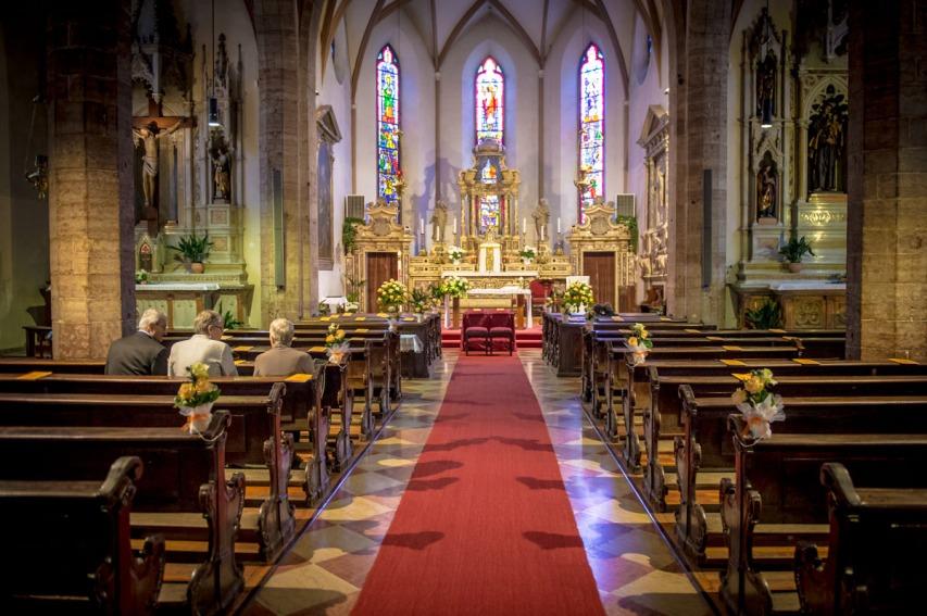 Matrimonio a Trento , Chiesa di San Pietro , weddiong Trento